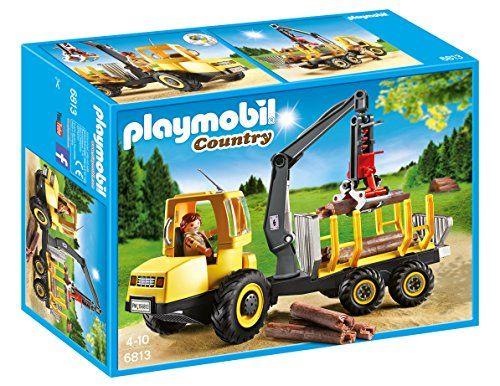 Playmobil – 6813 – Porteur avec Bucheron: le bûcheron dans sa cabine mobile peut charger les troncs sur la remorque du camion. Utilise bien…
