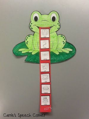 Frog articulation activity. Can be modified to target any speech sound.