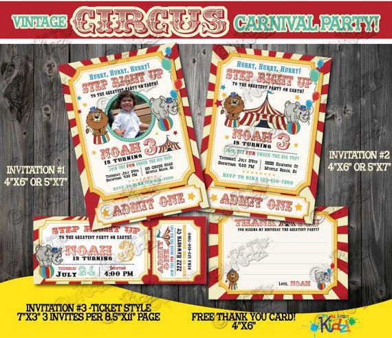 The  Best Circus Birthday Invitations Ideas On