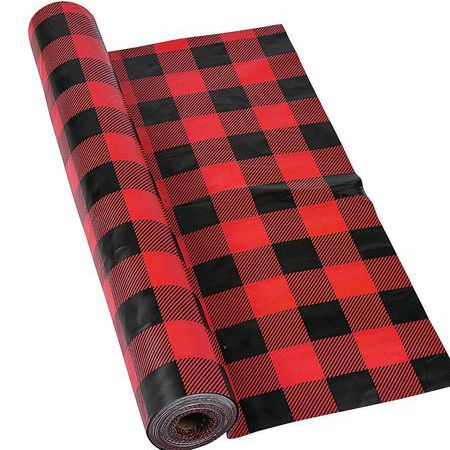 Buffalo Plaid GIANT 100 FT Plastic Table Cover Roll Party Supplies Canada - Open A Party