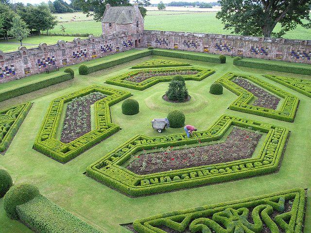 Walled Garden at Edzell Castle, Perthshire, Scotland.