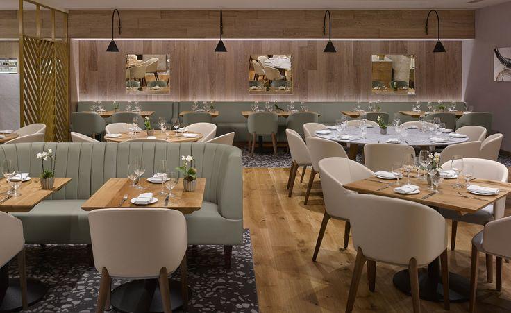 Theo Randall at the InterContinental | Restaurant Interior Design Ideas. Restaurant Lighting Ideas. Restaurant Dining Chairs. #restaurantinterior #restaurantinteriors www.brabbucontract.com