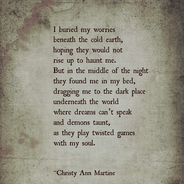 The Haunting - Dark Poetry - Christy Ann Martine - Anxiety - Depression #anxiety