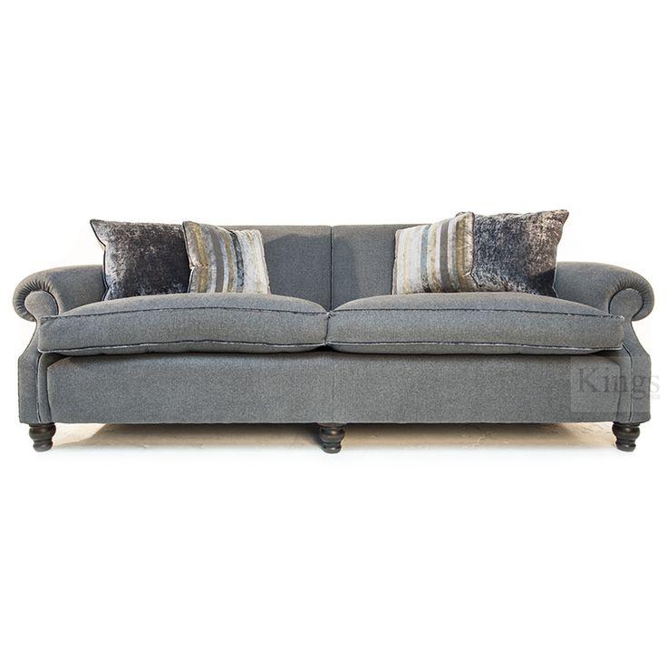 #johnsankey #upholstery Tolstoy grey herringbone with velvet piping http://www.kingsinteriors.co.uk/
