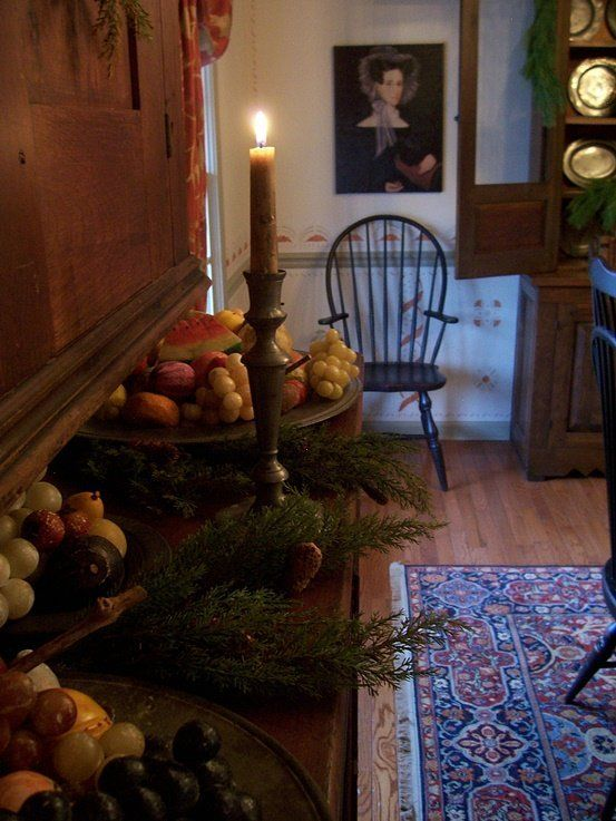 1000 images about colonial christmas on pinterest for Colonial home christmas decorations