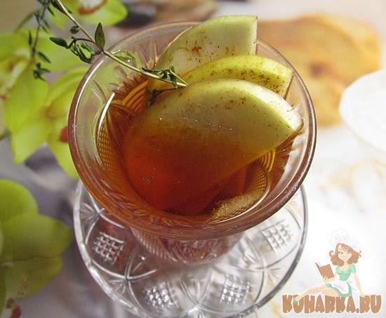 Чай с яблоками и тимьяном