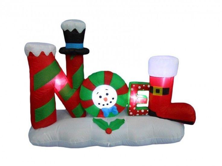 Christmas Noel Airblown Inflatable 4 Ft Yard Garden Lighting Xmas Decor  #easy_shopping08