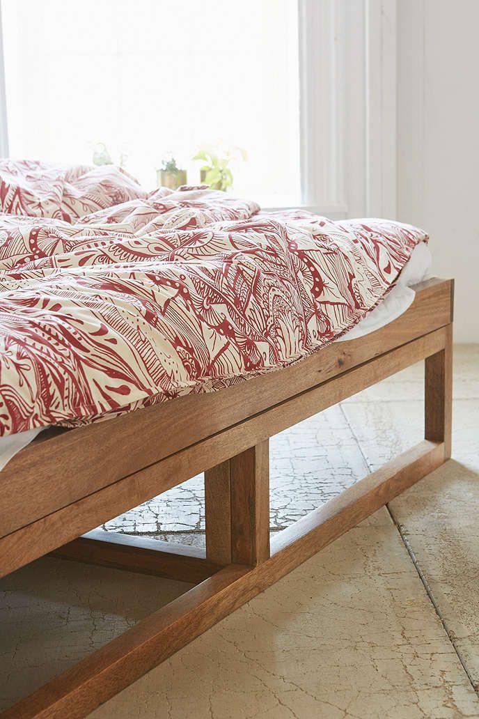 Morey Platform Bed Platform bed designs, Wooden platform