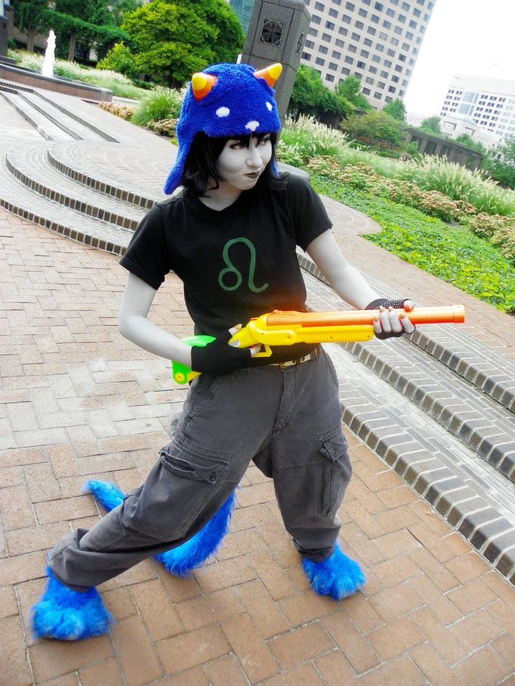 Nepeta by QPUPcosplay http://www.deviantart.com/art/Nepeta-Steal-Jade-s-gun-260669627 < I WANNA DO THIS FOR MY NEPETA COSPLAY