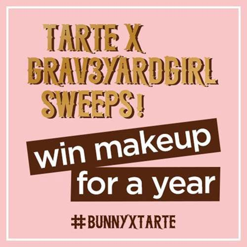 "Enter for a chance to win a 13"" laptop + makeup for a year (over a $2,350 value!), courtesy of Tarte Cosmetics and @Grav3yardGirl"