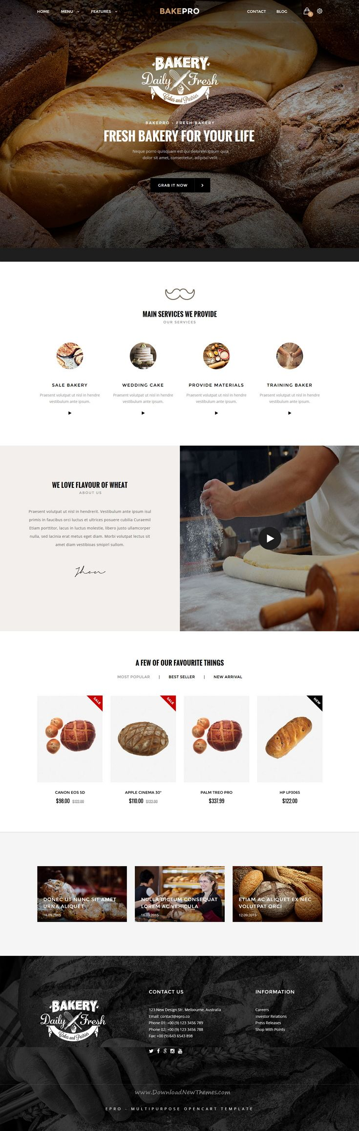 ePro is an advanced OpenCart theme fully customizable and suitable for multipurpose eCommerce #websites. #bakery #pastry #shop Download Now!