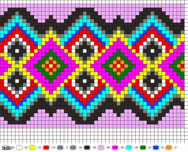 Design pattern / chart for cross stitch, alpha pattern, crochet, knitting, knotting, beading, weaving, pixel art, and other crafting projects.