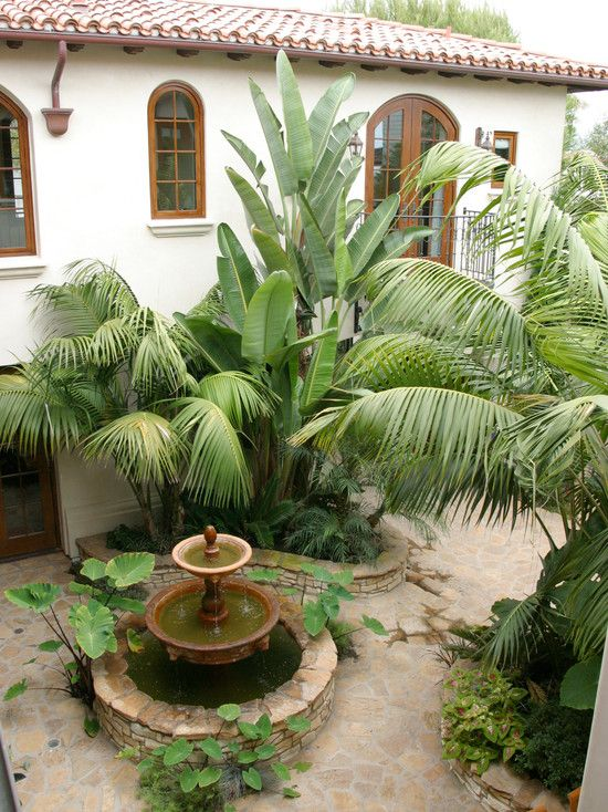 17 best images about spanish exterior homes on pinterest for Spanish garden designs