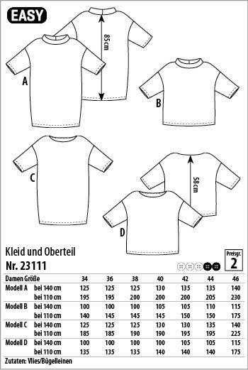 Kleid und Oberteil – 23111 - Stoff & Stil