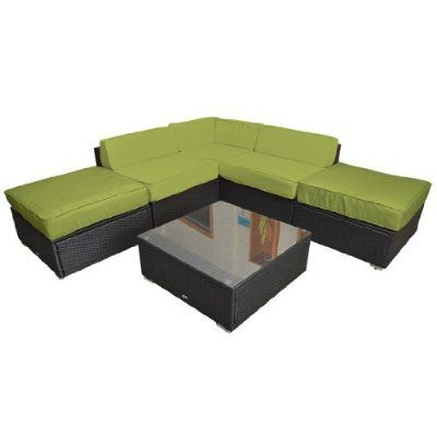 Amazon.com : Outsunny 6pc Outdoor Sofa Sectional Replacement Cushion Covers    Green : Patio Part 88