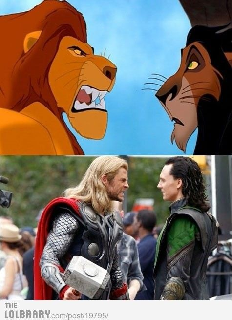 Lolol: Funny Things, Mind Blown, Sibling Rivalry, Funny Pictures, Movie, Lion King, Thor Loki, Thorloki, The Avengers