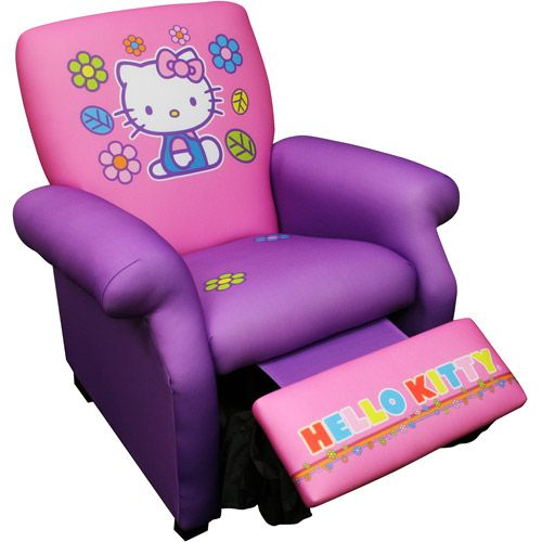 Lazy boy for kids? Hello Kitty - Deluxe Recliner How funny...... Trin's chair.... <3