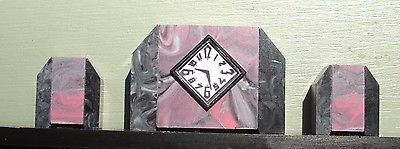 Dolls-House-12th-Scale-French-Art-Deco-Mantle-Clock-with-Garniture
