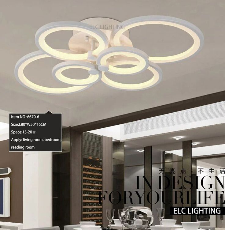 Moderno design del soffitto di illuminazione intelligente dimmerabile decorazione del soffitto shopping online salotto moderno 6 anello luci di soffitto in da Luci del pendente su AliExpress.com | Gruppo Alibaba