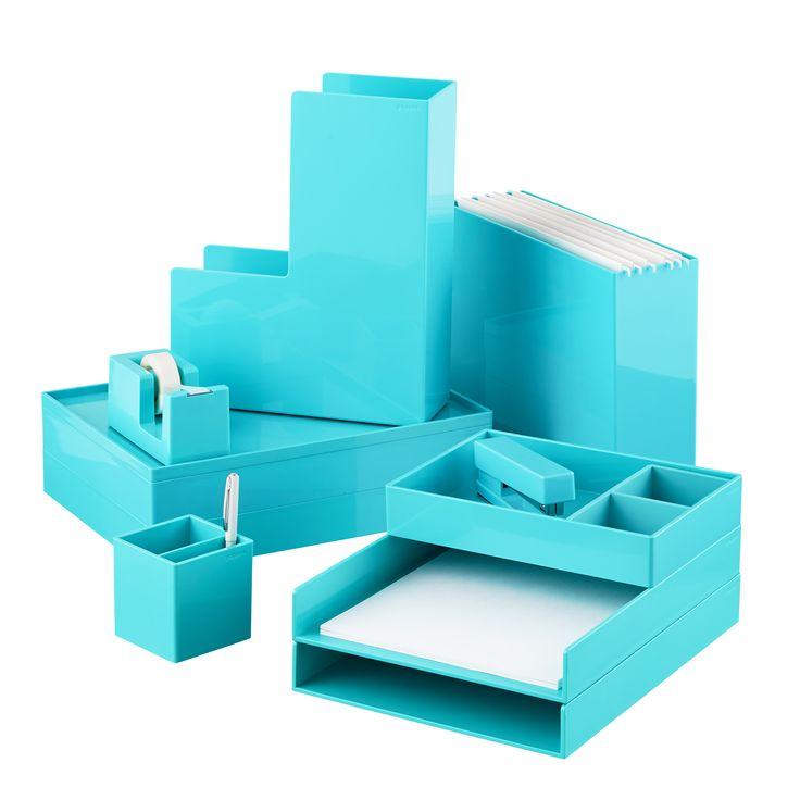 aqua poppin accessory trays work oficina en casa. Black Bedroom Furniture Sets. Home Design Ideas