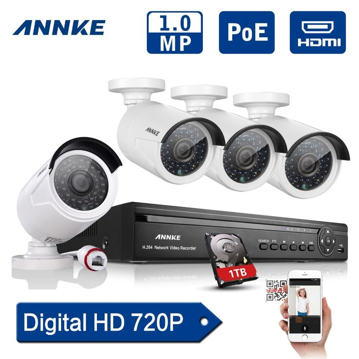 212.49$  Watch here - http://alipuk.worldwells.pw/go.php?t=32357931725 - ANNKE 4CH 960P POE NVR HD Security Camera System with 4 Indoor/ Outdoor Night Vision 720P HD IP Security Cameras With 1TB HDD 212.49$