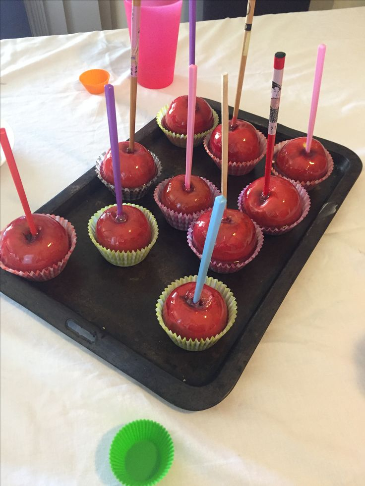 Toffee Apples - birthday party
