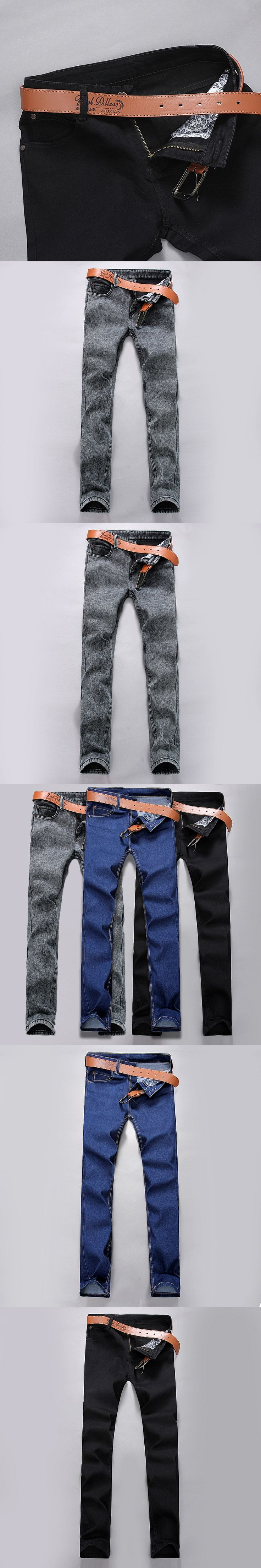 pantalones jeans hombre 2017 Mens jeans New Fashion Men Casual Slim Straight Jeans Long Trousers jean blanc homme pants