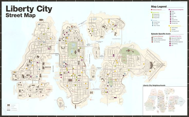Grand Theft Auto Liberty City Map liberty city map grand theft auto ...