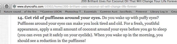 coconut oil puffy eye treatment
