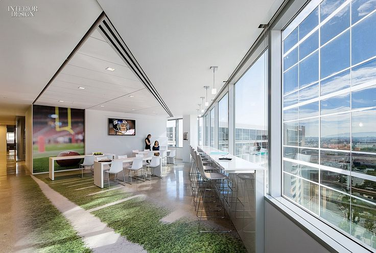 How Tomorrow Works: 5 Offices for Tech Companies | Aecom. Project: DirecTV. El Segundo, California. #design #interiordesign #interiordesignmagazine #architecture #office #furniture