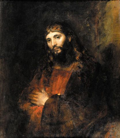 Jesus the portrait.  Rembrant , Hamenzoon van Rijin  Rembrant used real jewish men at the time to depic Jesus's more human side. If you look at several other pantings of Jesus he painted the face constantly changes depending on the rabbi or jewish man he used to create his painting.