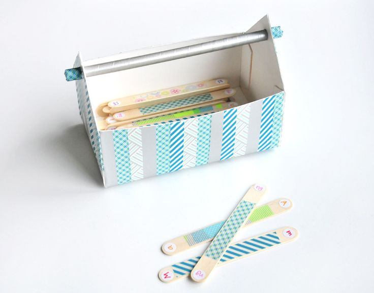 Projekt #12giftswithlove - 02 - Washi Tape - Ein Alphabet-Lernspiel samt Box, gemacht mit Washi Tape - An alphabet learning game, including a box, made with masking tape