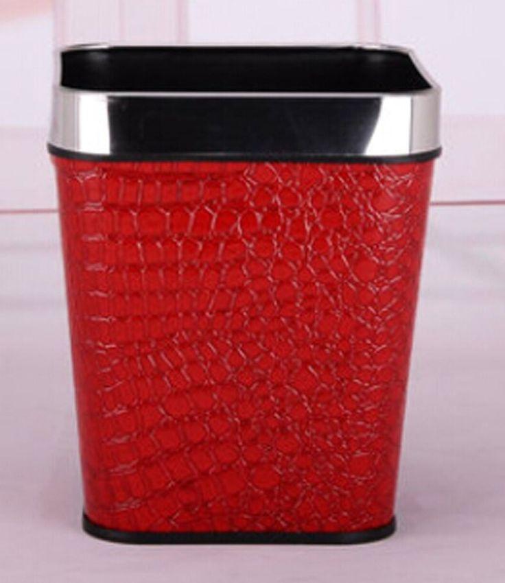 17 best images about red gold bathroom wastebasket on pinterest creative jonathan adler and for Bathroom wastebasket with lid