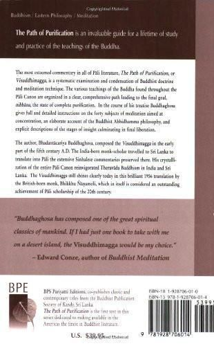 The Path of Purification: Visuddhimagga (Vipassana Meditation and the Buddha's Teachings)