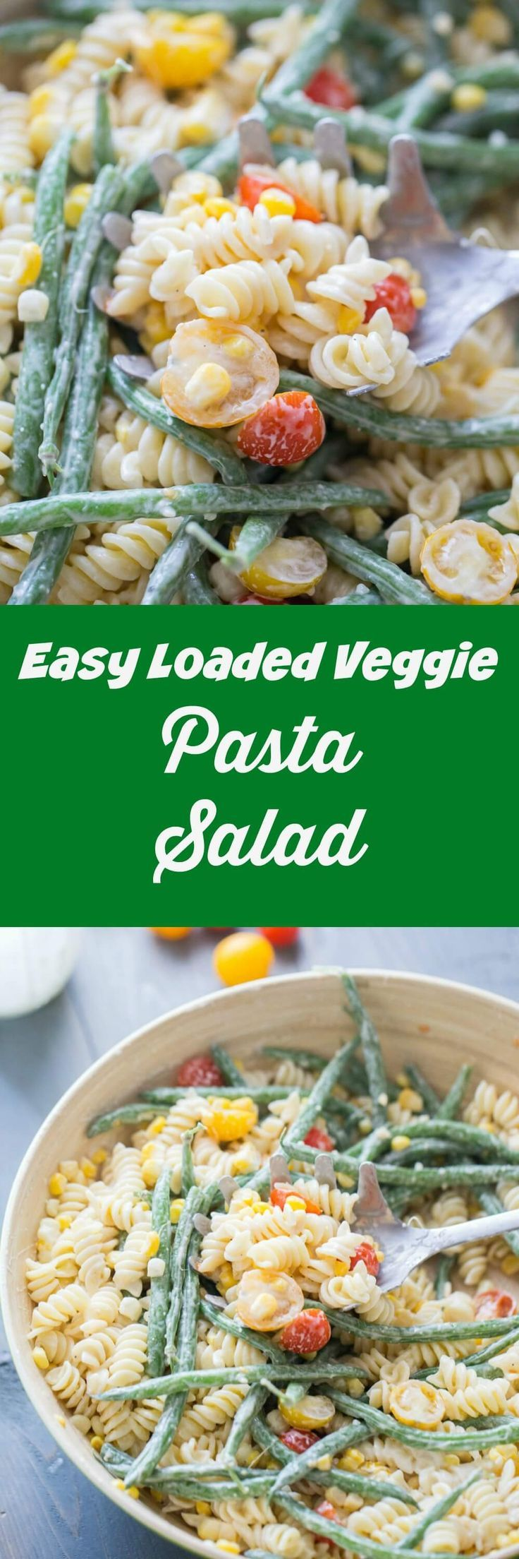 Your summer menu must include this easy vegetable pasta salad! Serve it with anything on the BBQ for the perfect summer meal! via @Lemonsforlulu