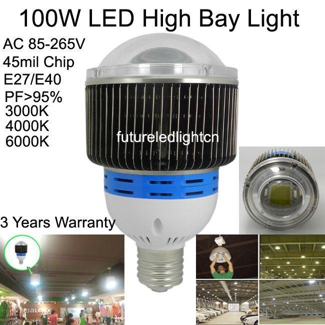 30 Вт 50 Вт 60 Вт e27 e40 светодиодные лампы 100 Вт 120 Вт 150 Вт 200 Вт 250 Вт светодиодный свет лампы высокого залива для промышленности, facotry, склад, супермаркеты лампы