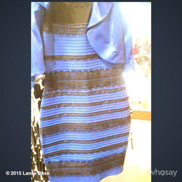 Kleid blau weib oder gold
