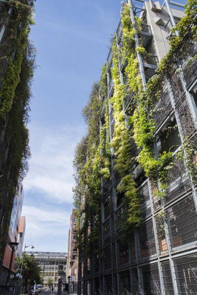 La rue Watt et le Biopark. Au fond, la Halle aux farines de l'université Paris-7 — © Christophe Noël
