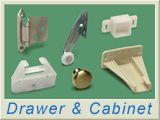 swisco - tons of plastic furniture parts like drawer slides