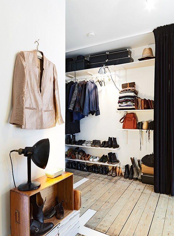 Die besten 25+ Offener kleiderschrank gardine Ideen auf Pinterest - schlafzimmer ohne kleiderschrank