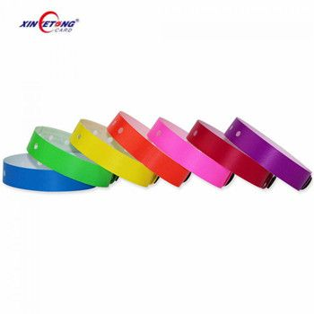 Health Caring NFC Chips ISO14443A HF Contactless one time use wristband RFID PVC Wristband