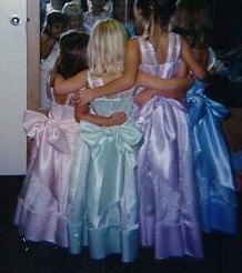 Disney wedding flower girls for the cousins!