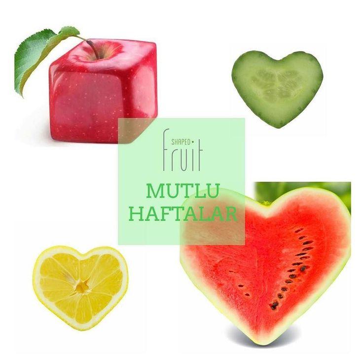 #shapedfruit #pazartesi #monday #happy