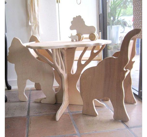 DIYしてみたい、アニマルデザインの子供用木製チェア   roomie(ルーミー)