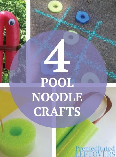 Do more than just swim in the pool...get crafty! Check out these 4 genius pool noodle crafts for kids.