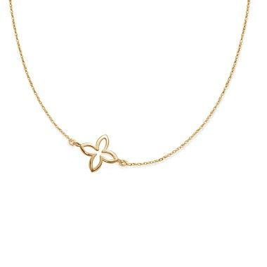 The lily on necklace by Lilou, delicacy and prettiness! #lilou #lily #necklace #delicacy #goldplated
