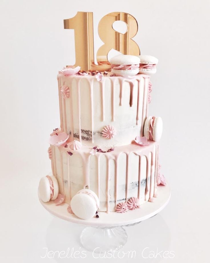 Best 25 18th birthday cake ideas on pinterest pink and for 18th birthday cake decoration