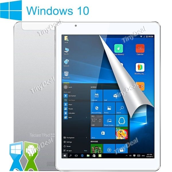 TECLAST X98 Plus 9.7 inch Win10 Android 5.1 Dual OS Intel Atom X5 Z8300 Quad-core 4GB 64GB Tablet PC