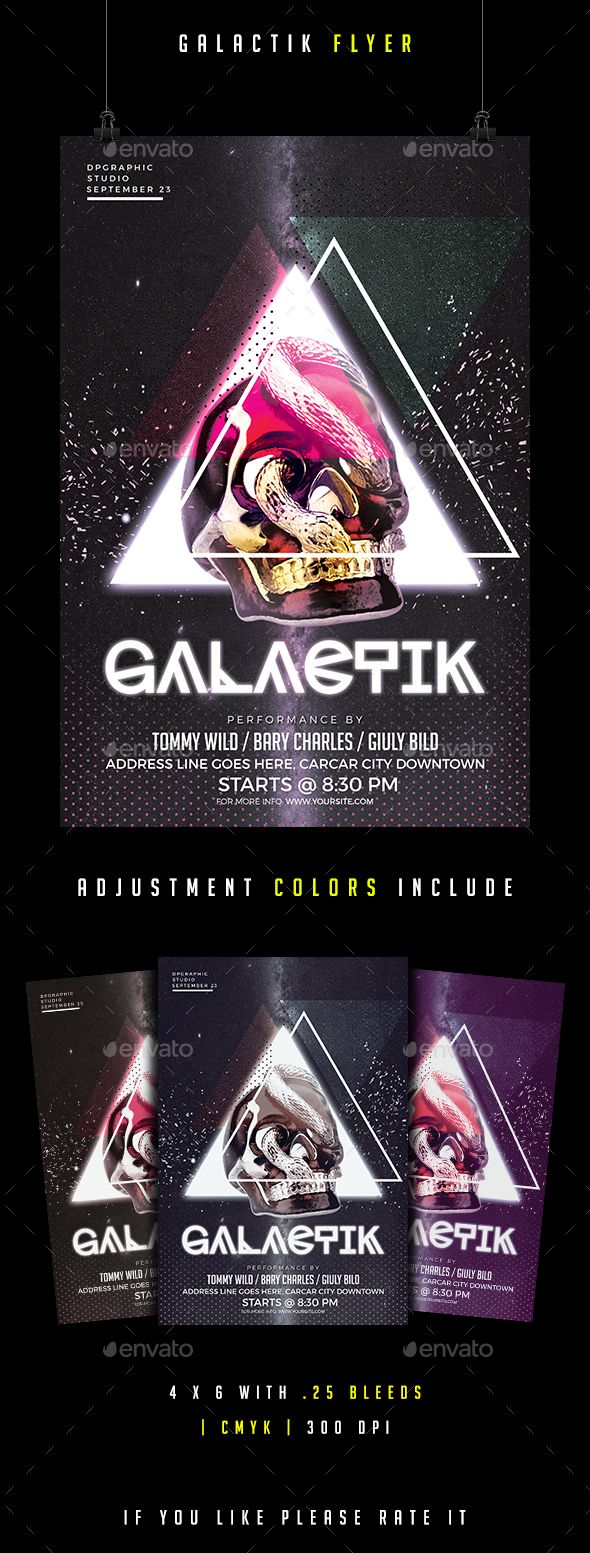 Galactik Flyer - Clubs & Parties Events