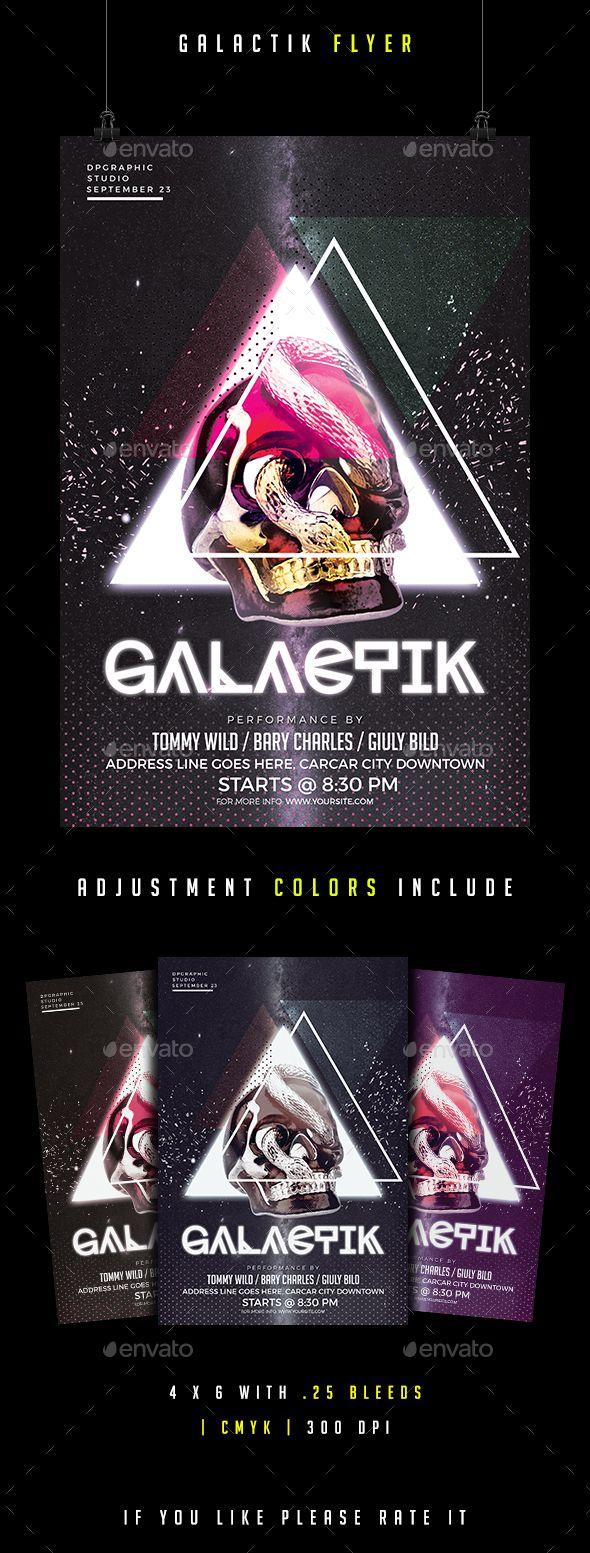 Galactik Flyer - Clubs & Parties Events